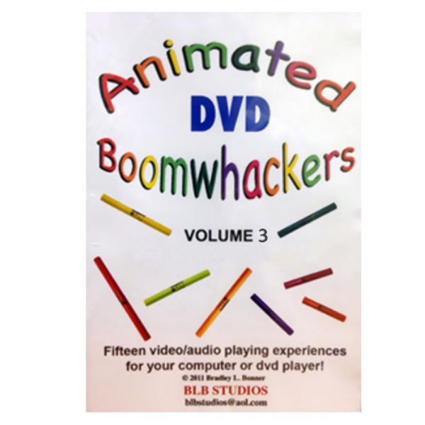 BoomWhacker 붐웨커 DVD Vol.3 Rhythm Band Animated Boomwhackers Vol 3