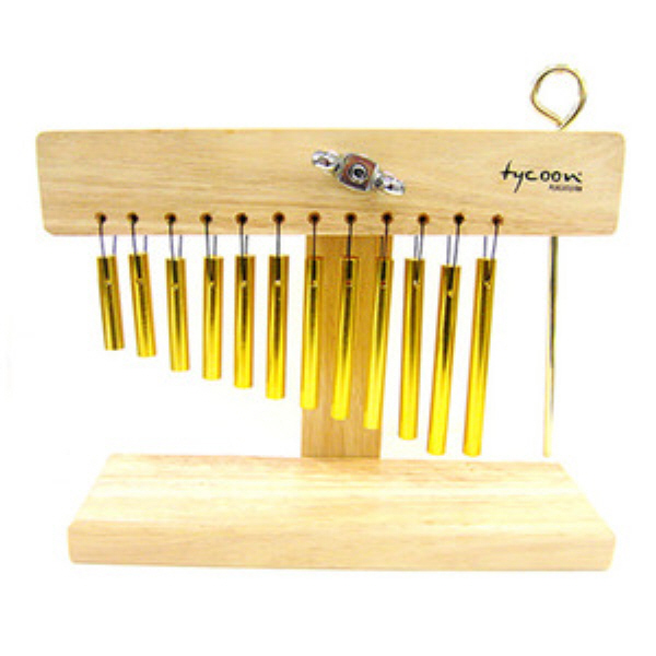 "TYCOON 윈드챠임 스탠드형 바차임(PS007-01)/12"" Bar Chimes Gold with Stand"